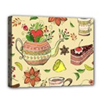 Colored Afternoon Tea Pattern Deluxe Canvas 20  x 16
