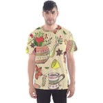 Colored Afternoon Tea Pattern Men s Sports Mesh Tee