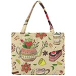 Colored Afternoon Tea Pattern Mini Tote Bag