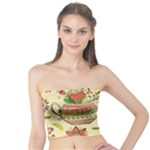 Colored Afternoon Tea Pattern Tube Top