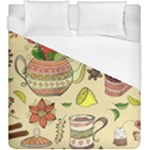 Colored Afternoon Tea Pattern Duvet Cover (King Size)
