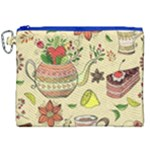 Colored Afternoon Tea Pattern Canvas Cosmetic Bag (XXL)