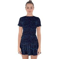 Sci Fi Tech Circuit Drop Hem Mini Chiffon Dress by jumpercat