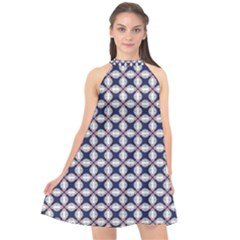 Kaleidoscope Tiles Halter Neckline Chiffon Dress  by jumpercat