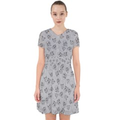 A Lot Of Skulls Grey Adorable In Chiffon Dress by jumpercat