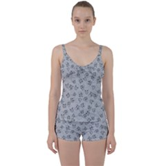A Lot Of Skulls Grey Tie Front Two Piece Tankini by jumpercat