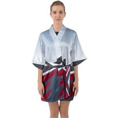 Modern Shapes Quarter Sleeve Kimono Robe by jumpercat