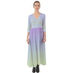 Vanilla Gradient Button Up Boho Maxi Dress
