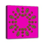 Sweet Hearts In  Decorative Metal Tinsel Mini Canvas 6  x 6