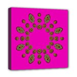 Sweet Hearts In  Decorative Metal Tinsel Mini Canvas 8  x 8