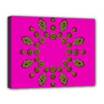 Sweet Hearts In  Decorative Metal Tinsel Canvas 14  x 11