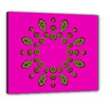 Sweet Hearts In  Decorative Metal Tinsel Canvas 24  x 20