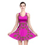 Sweet Hearts In  Decorative Metal Tinsel Reversible Skater Dress