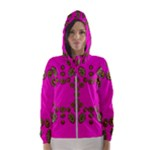 Sweet Hearts In  Decorative Metal Tinsel Hooded Wind Breaker (Women)