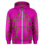 Sweet Hearts In  Decorative Metal Tinsel Men s Zipper Hoodie