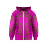 Sweet Hearts In  Decorative Metal Tinsel Kids  Zipper Hoodie