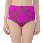 Sweet Hearts In  Decorative Metal Tinsel High-Waist Bikini Bottoms