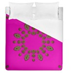 Sweet Hearts In  Decorative Metal Tinsel Duvet Cover (Queen Size)