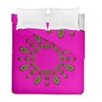 Sweet Hearts In  Decorative Metal Tinsel Duvet Cover Double Side (Full/ Double Size)
