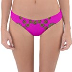Sweet Hearts In  Decorative Metal Tinsel Reversible Hipster Bikini Bottoms