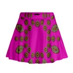 Sweet Hearts In  Decorative Metal Tinsel Mini Flare Skirt