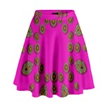 Sweet Hearts In  Decorative Metal Tinsel High Waist Skirt
