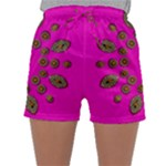 Sweet Hearts In  Decorative Metal Tinsel Sleepwear Shorts