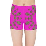 Sweet Hearts In  Decorative Metal Tinsel Kids Sports Shorts