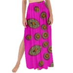 Sweet Hearts In  Decorative Metal Tinsel Maxi Chiffon Tie-Up Sarong
