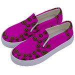 Sweet Hearts In  Decorative Metal Tinsel Kids  Canvas Slip Ons
