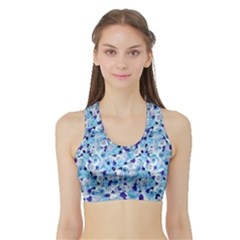 Gardenia Cold Sports Bra With Border by jumpercat