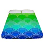 art deco rain bow Fitted Sheet (Queen Size)