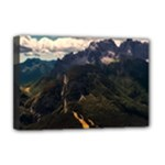 Italy Valley Canyon Mountains Sky Deluxe Canvas 18  x 12