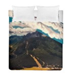 Italy Valley Canyon Mountains Sky Duvet Cover Double Side (Full/ Double Size)