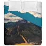 Italy Valley Canyon Mountains Sky Duvet Cover Double Side (California King Size)