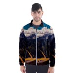 Italy Valley Canyon Mountains Sky Wind Breaker (Men)
