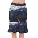 Italy Valley Canyon Mountains Sky Mermaid Skirt
