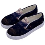 Italy Valley Canyon Mountains Sky Kids  Canvas Slip Ons