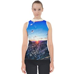 Iceland Landscape Mountains Stream Shell Top by BangZart