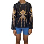 Insect Macro Spider Colombia Kids  Long Sleeve Swimwear