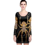Insect Macro Spider Colombia Long Sleeve Bodycon Dress