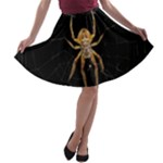 Insect Macro Spider Colombia A-line Skater Skirt