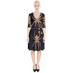 Insect Macro Spider Colombia Wrap Up Cocktail Dress