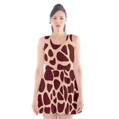 Animal Print Girraf Patterns Scoop Neck Skater Dress by BangZart