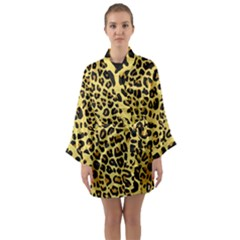 Animal Fur Skin Pattern Form Long Sleeve Kimono Robe