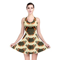 Butterfly Butterflies Insects Reversible Skater Dress by BangZart