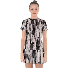 Pattern Structure Background Dirty Drop Hem Mini Chiffon Dress by BangZart