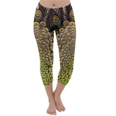Peacock Feathers Wheel Plumage Capri Winter Leggings  by BangZart