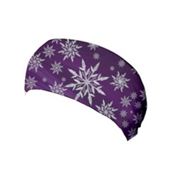 Christmas Star Ice Crystal Purple Background Yoga Headband by BangZart
