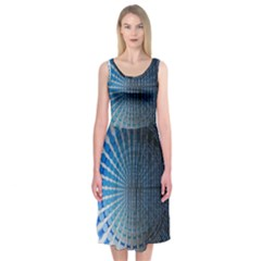 Data Computer Internet Online Midi Sleeveless Dress